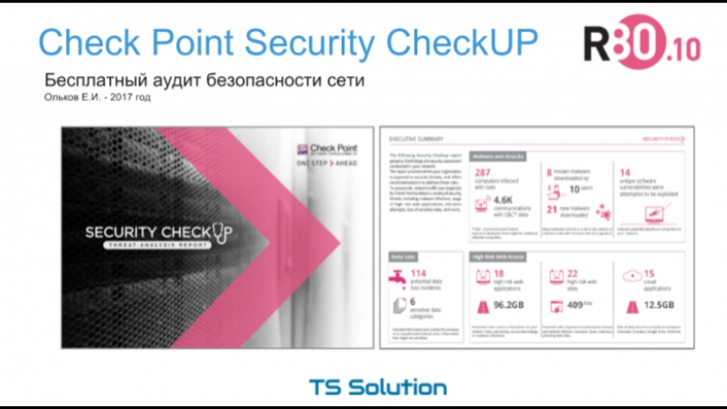 1.Check Point Security CheckUP R80.10. Обзор