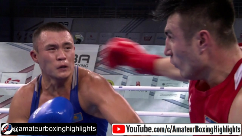 AIBA Hamburg 2017: (91kg) Джалолов Баходир (UZB) vs Камшыбек Кункабаев (KAZ)