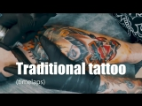 Traditional tattoo (timelapse #4)
