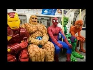 Самые невероятные прикольные пассажиры метро. The most incredible fun subway pas