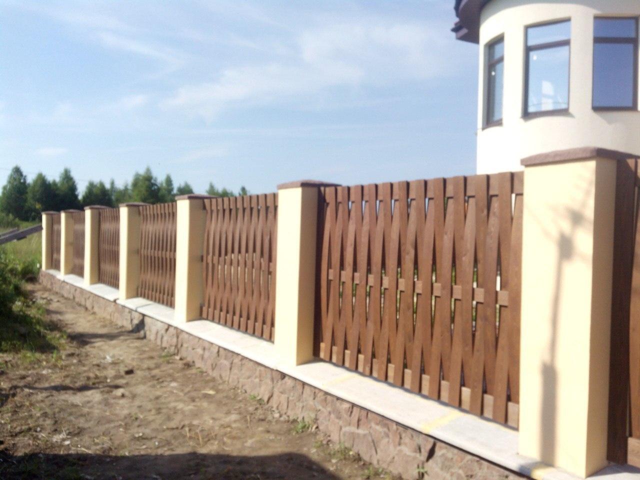 Забор (наполнение лиственница)