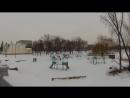 м.Миргород, Полтавська обл.  по мосту через річку Хорол з Екшен-камерою , 13.02.18р. 16:30