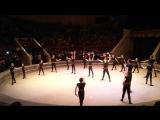 Новогоднее представление школы акробатики и прыжков на батуте. Цирк. 25.12.2017