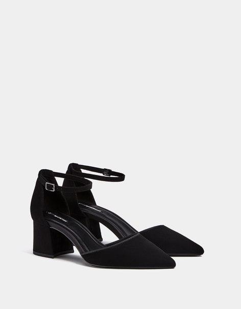 Туфли на среднем каблуке, с ремешком на щиколотке