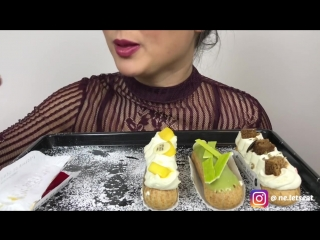 [N.E Lets Eat] PASTRIES   ASMR Whispering Eating Sounds    N.E Lets Eat