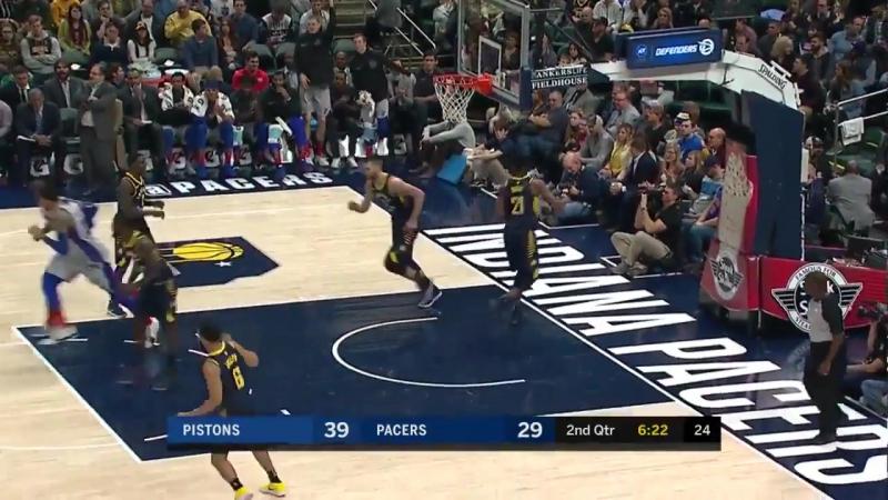 Индиана Пэйсерс 98 : 104 Детройт Пистонс (Баскетбол. НБА)