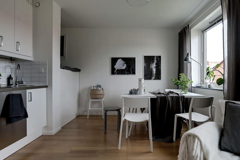 Скандинавский интерьер: квартира-студия 27 м.