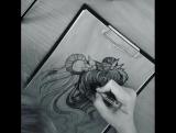 M O O N P O W E R  Painting process by Yanovsqe