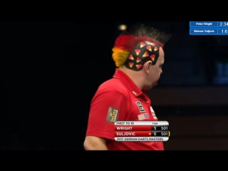 Peter Wright vs Mensur Suljovic (PDC German Darts Masters 2017 / Quarter Final)