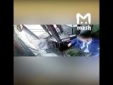 Видео из салона автобуса, наехавшего на остановку в Москве 29.12.17