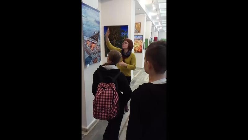 Часть экскурсии по выставке Художники Новокузнецка