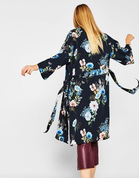 Кимоно с цветочным принтом
