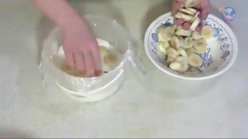 Торт из пряников с бананами! Рецепты без выпечки