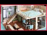 Đồ chơi NHÀ BÚP BÊ 2 TẦNG PHÒNG NGỦ, BẾP, NHÀ TẮM | Lắp ráp mô hình nhà gỗ tí hon.. (Chim Xinh)
