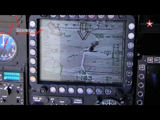 Ми-28Н уничтожает танк ИГИЛ с дистанции почти в 3 км