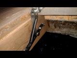 Люк в полу с газовыми упорами под плитку первая часть