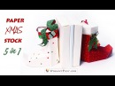[Free template] How to make paper Christmas stocking