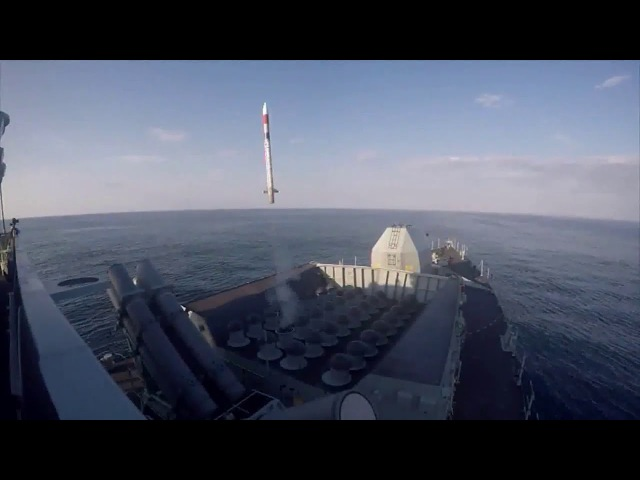 Firings of Sea Ceptor missiles - MBDA CAMM