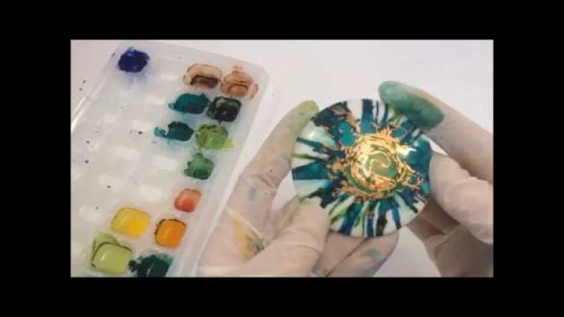 Alcohol Ink Flower on Raw Polymer Clay with Debbie Crothers