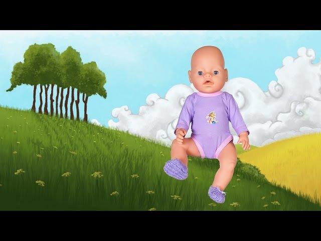 Обувь для куклы Baby Born вязаные пинетки Одеваем Беби Бона 21