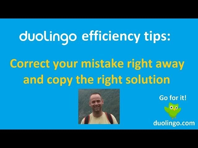 Duolingo efficiency tips: copy pasting the right way (home video 2018)