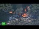 Крушение военного самолета C 130 Геркулес в США 16 погибших 11.07.2017 реальная съемка м...