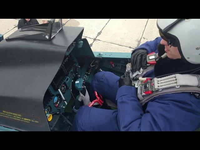 Первые учебно-тренировочные полеты истребителей эскадрильи ЗВО в Курской области