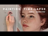 OIL PAINTING TIME LAPSE Part 1 Bambi Eyes