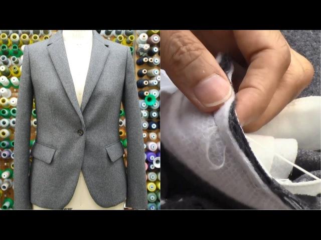 ジャケットの作り方・縫い方 Part5 「袖作り 袖付け 衿付け」 How to sew a jacket tutor
