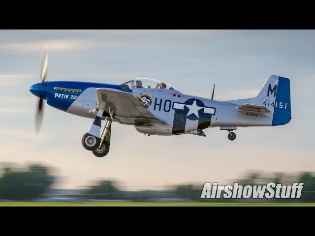Warbird Takeoffs and Flybys - America's Freedom Fest 2017