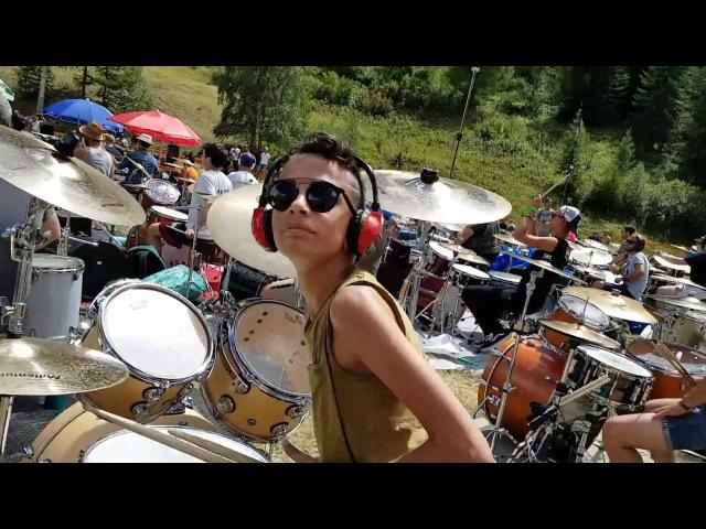Rockin1000 Summer Camp 2017 Val Veny - Prove dei batteristi - Andrea Gugliandolo