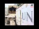 Босния 1995 Сараево Прибытие украинских миротворцев ООН