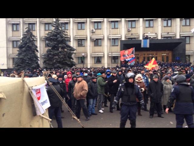 19 февраля 2014 Одесса Противостояние майдана и антимайдан