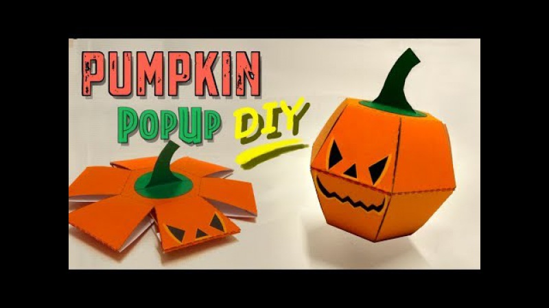 Pumpkin Popup Paper Bomb - Great Halloween DIY