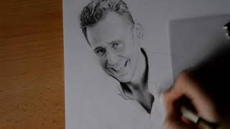 Tom Hiddleston - Commission Speed Drawing