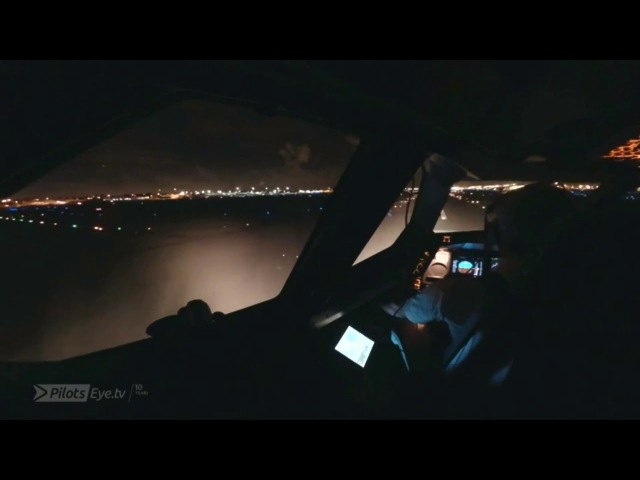 Pilotseye.tv - Swiss Airbus A330 Miami Night Departure