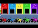Цветные Тракторы и Супергерои Мультики про Машинки Учим Цвета для Детей Мульти ...