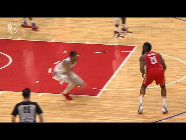 James Harden Breaks Wesley Johnson's Ankles | Rockets vs Clippers | 2017-18 NBA Season