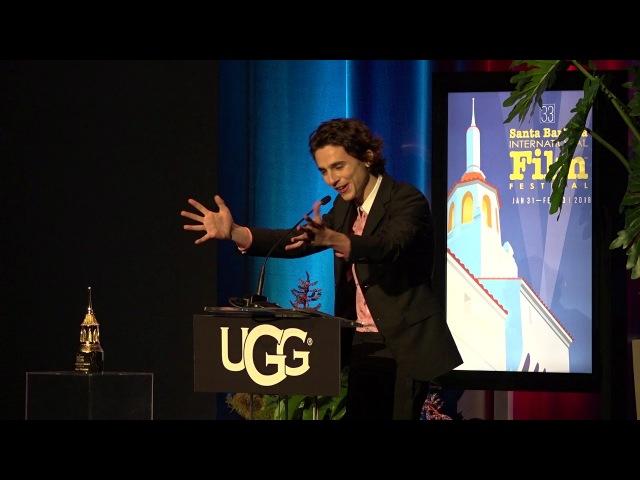 SBIFF 2018 Santa Barbara Award Timothee Chalamet Presentation Saoirse Ronan Speech