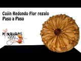 CLASE III - COJIN REDONDO - FLOR REGALO Manualidades Anny