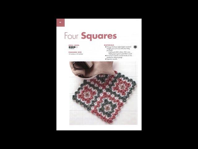 Quadrados de croche bordados