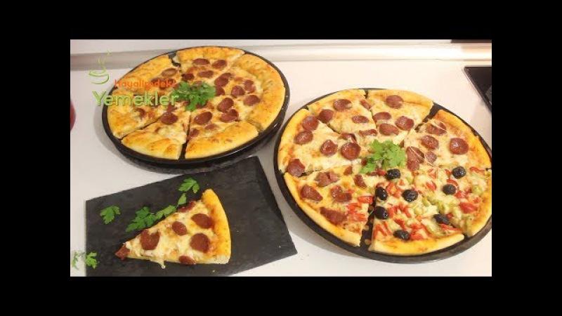 Muhteşem Hamuruyla Sucuklu Pizza Nasıl Yapılır Kenarı Dolgulu Pizza Tarifi Hayalimdeki Yemekler