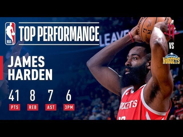 James Harden Leads The Rockets To Their 12th Straight Win In The Mile High! NBANews NBA Rockets JamesHarden