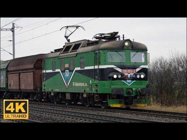 Vlaky Horní Počaply 27.12.2017 (4K)
