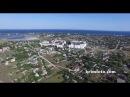 Заозерное - курортный поселок Крыма на берегу Черного моря с высоты птичьего полета