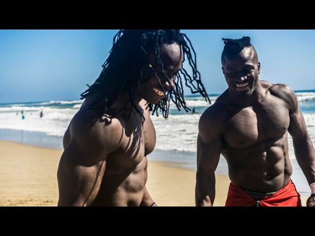 African Beasts Alseny and Sekou @ Huntington Beach W/ Strength Project