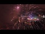 Салют в Мурманске + ночной город. Видео с квадрокоптера.