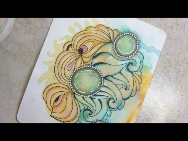 Easy TIP to add dimension to your Zentangle Zen Gems! 💡