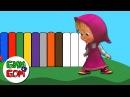 Маша и Медведь Английский для детей Учим цвета на английском языке Learn Color Masha and Bear