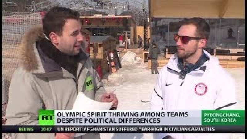 SPORT V POLITICS: OLYMPIC SPIRIT PREVAILS AS ATHLETES HELP EACH OTHER OUT.